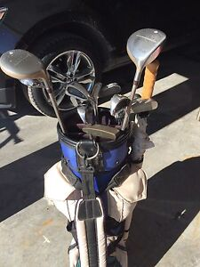 Ladies Golf Clubs with size 8 shoes.