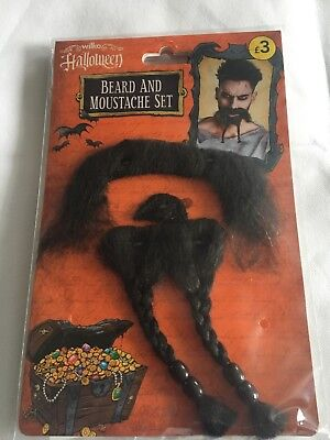 10x Wilko Zombie Beard & Moustache Set Halloween Fancy Dress party Blood Gory](Wilko Halloween)
