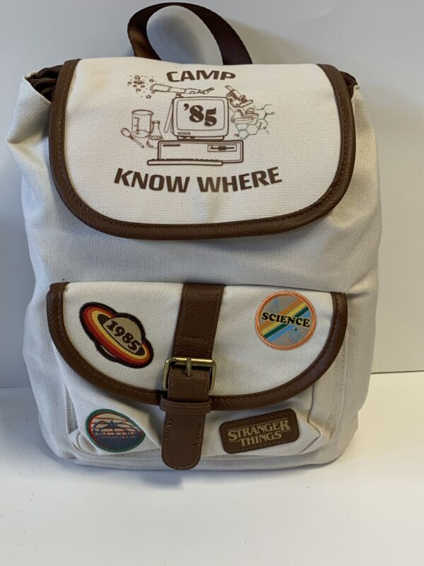 Loungefly Netflix Stranger Things Camp Know Where Canvas Backpack