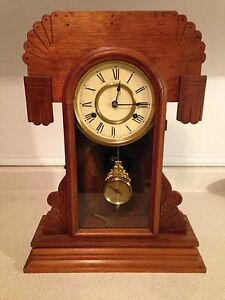 Antique New Haven Gingerbread Clock, Good Working Condition