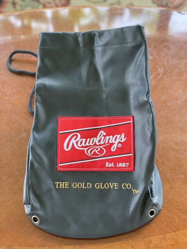 Rawlings PU Leather Drawstring Glove Bag