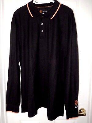 Total Rewards Long Sleeve Polo Shirt 2Xl  Black  Nwt