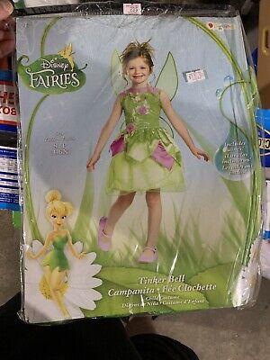 Disguise Disney Fairies Tinker Bell Child Halloween Costume Size 4-6X