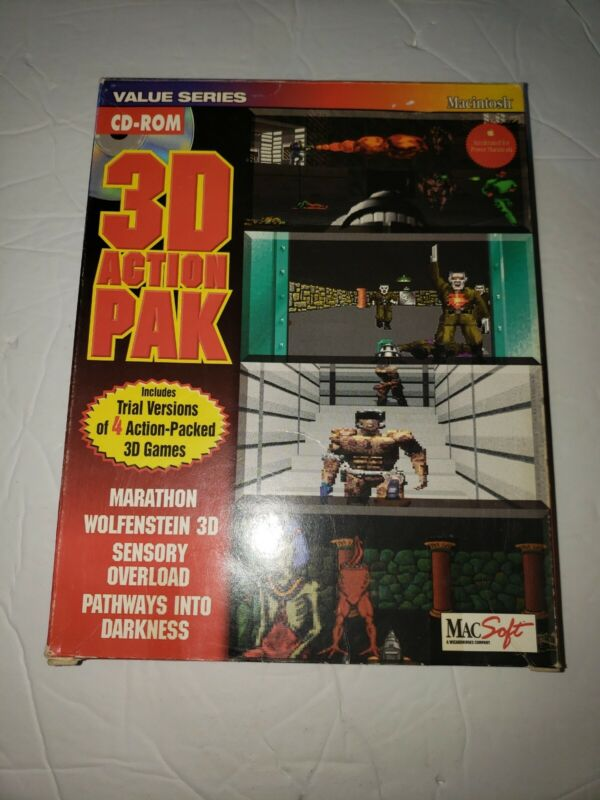 Macintosh 3D Action Pack Marathon Wolfenstein..more