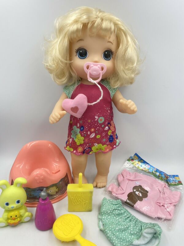 Baby Alive Potty Dance Doll w/Potty Seat Blonde Hair 2017 Hasbro Accessories