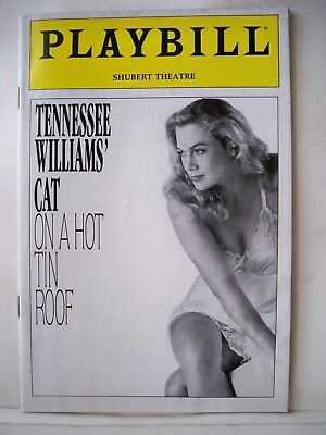 CAT ON A HOT TIN ROOF Playbill KATHLEEN TURNER / DANIEL HUGH KELLY Tryout (Kathleen Turner Cat On A Hot Tin Roof)