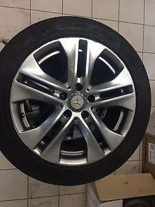 """Mercedes W212 E Class Rims Tyres Pirelli 17"""" Penrith Penrith Area Preview"""