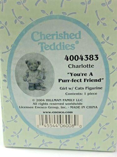 Cherished Teddies 2004 Charlotte You're A Purr-fect Friend Girl w/Cat 4004383