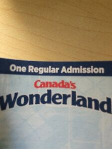 One regular admission pass to wonderland