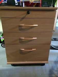 Wood office drawers on casters