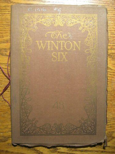 1916 1917 Winton 6 Model 48 Prestige Stringbound Brochure