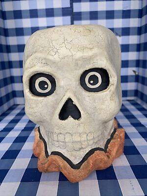 "Bethany Lowe Halloween Bucket Skull Paper Mache ~7"""