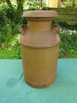 Used, Rare 5 Gallon CC & B Co. Milk Can With Original Lid for sale  El Dorado