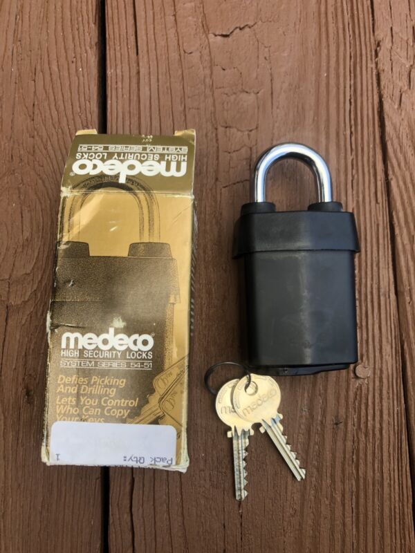 Medeco All Weather High Security System Series 54-51 Padlock NOS