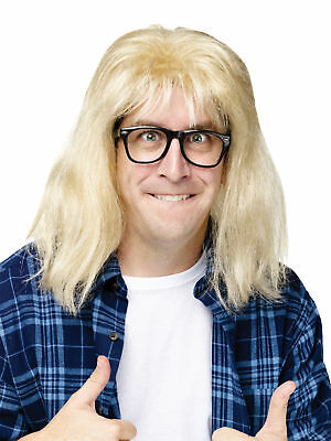 SNL SATURDAY NIGHT LIVE GARTH ALGAR BLONDE WIG & GLASSES COSTUME KIT FW92195](Snl Wigs)