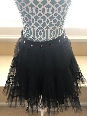 Black Lace Tutu Skirt (TRIPP NYC Laced Tutu Skirt Medium Black Hot Topic)
