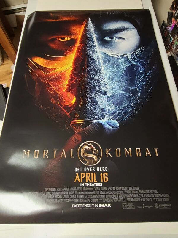Mortal Kombat 2021 Version 2 Double-Sided Theatrical Movie Poster 27x40