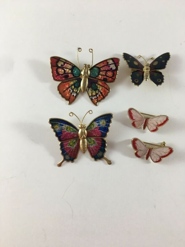 5 Pcs Butteryfly Pin Brooches