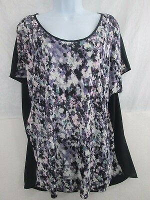 H M Open Back Short Sleeve Womens Blouse Top Shirt Size Large