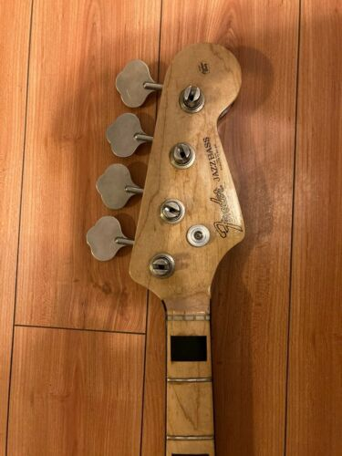 1970 Fender Jazz Bass Neck - Maple with Black Block Inlays