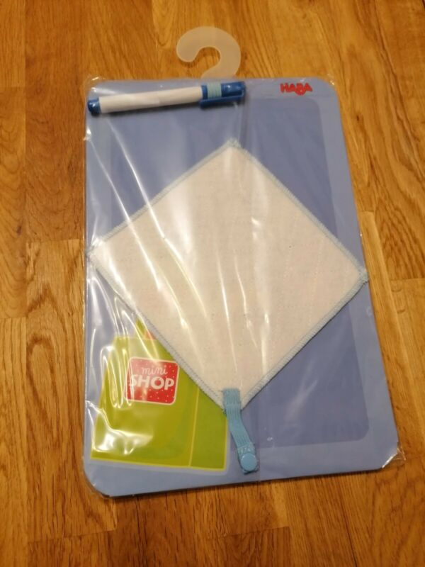 Haba+Biofino+wipe+clean+board+and+felt+tip+pen.+Play+kitchen+shop