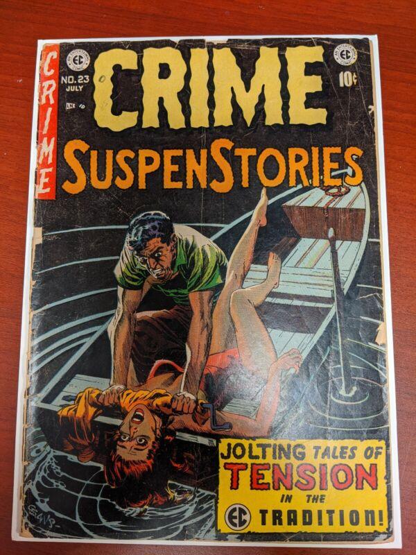Crime Suspenstories 23 - EC Strangulation Cover, July 1954.  Awesome cover!