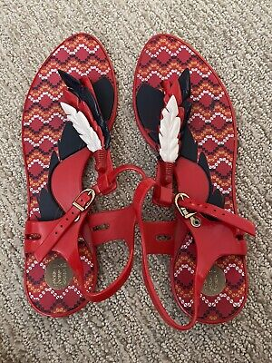 Melissa Jelly Red Sandals Size 8