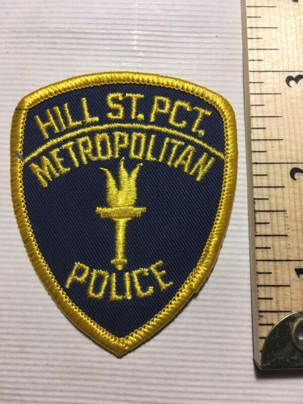 NOS Vintage HILL ST. Embroidered POLICE Jacket PATCH Hill Street BLUES Precinct