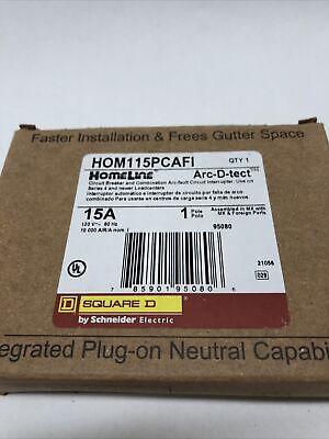 New Square D Homeline Hom115pcafi Hom115pcafic 15 Amp Arc Fault Circuit Breaker