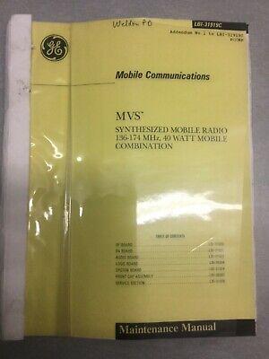Ge Ericsson Mvs Vhf 136-174 Mhz 40 Watts Mobile Radio Service Manual Ham