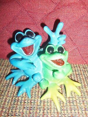 Kitty's Critters Buddies silly frogs limited edition rare sculpture statue