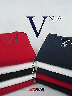 NWT NAUTICA Men's Classic Fit V-Neck Short Sleeved T-Shirt S M L XL 2XL 3XL