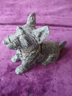 Antique vintage cold painted spelter scottish Terrier