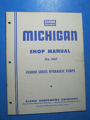 Clark Michigan 450000 Hydraulic Pumps Shop Manual Service Oem Original