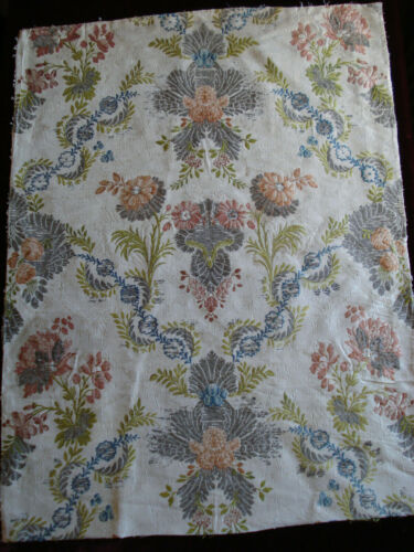 antique french 18th c silk + silver brocade