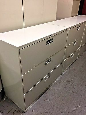 3 Drawer Lateral Size File Cabinet By Hon Office Furniture Model 693L W Lock Key