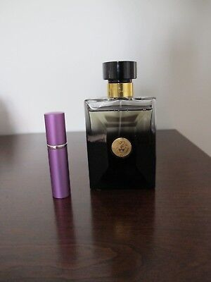 "VERSACE POUR HOMME ""OUD NOIR"" FOR MAN Sample 5ml in Refillable Atomizer"