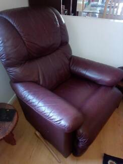 Genuine leather Lazboy rocking and recliner.