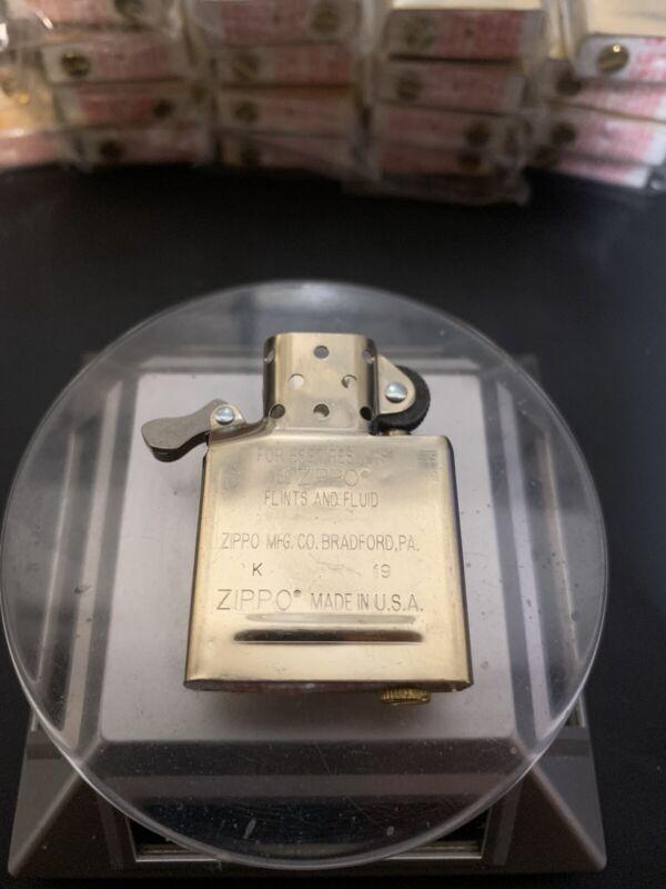 1 PCS Zippo Inside Guts Insert BRASS GOLD Only Inside Case
