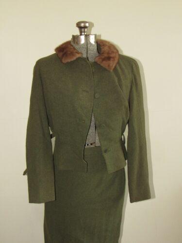 Vtg 50s Moordale Fur Collar Women
