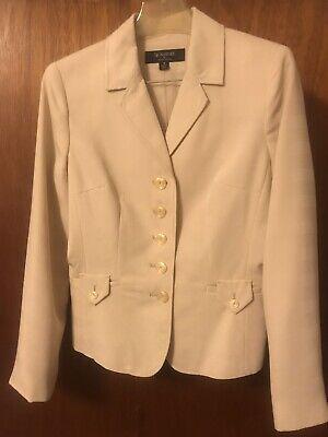 larry levine women tan 2 piece pant suit size 10
