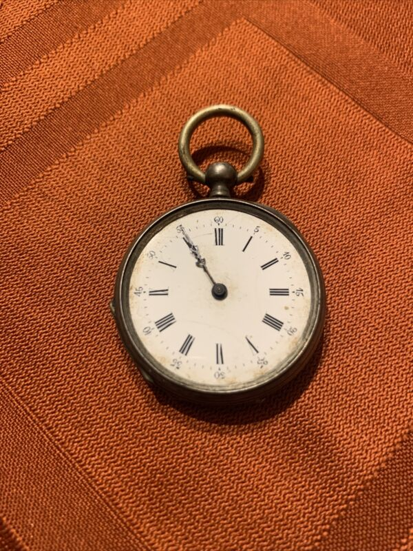 Antique Pocket Watch- For Parts Or Repair.