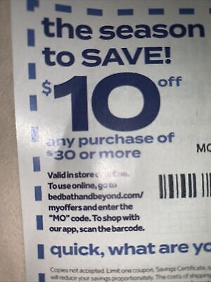 BED BATH & BEYOND Coupon $ OFF