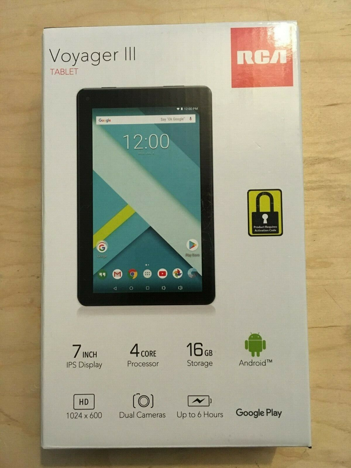 """RCA Voyager III  7"""" 16GB Tablet Android Black - NEW and SEAL"""