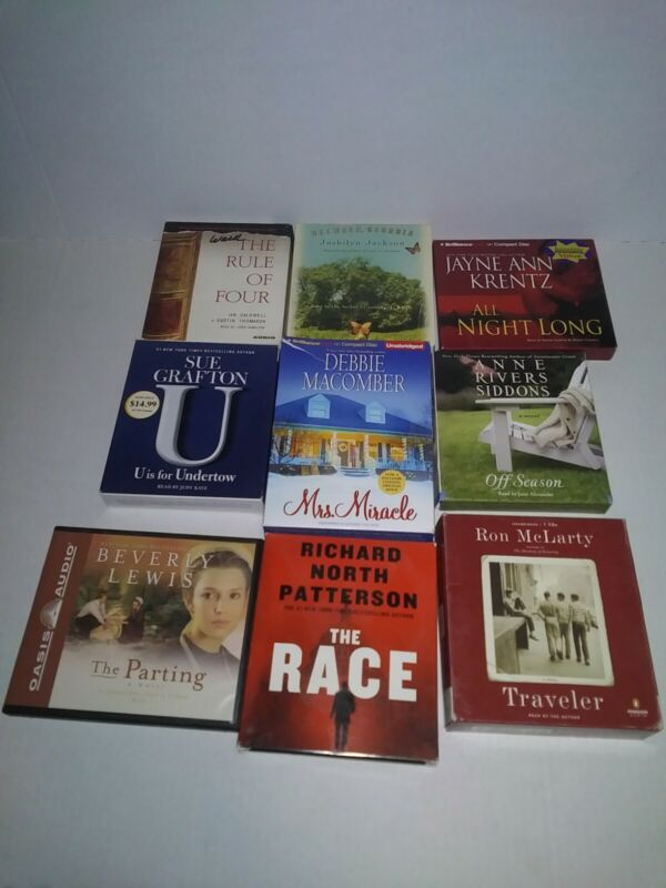 Lot Of 9 Audiobook CD Various Authors