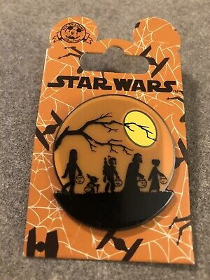 Disney Star Wars Halloween Trick or Treat Pin - Vader Chewbacca Yoda Leia Fett