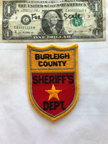 Burleigh County North Dakota Police Patch un-sewn in great shape