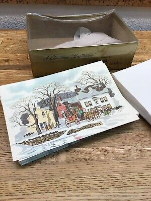 24 Cards - Vtg 70s Masterpiece Studios Chicago- Christmas Cards With Envelope G1