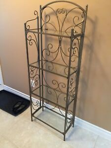 Glass and Iron shelf / Plant Stand