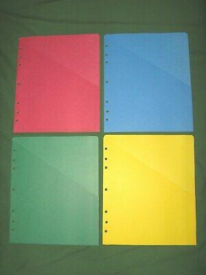 Folio 4 Color Slash Pocket Storage Lot 8.5x11 Day Timer Monarch Franklin Covey